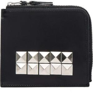 コム デ ギャルソン Comme Des Garcons レディース 財布 Studded Leather Zip Wallet Black|fermart