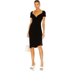 ノーマ カマリ Norma Kamali レディース ワンピース ワンピース・ドレス Sweetheart Side Drape Dress Black fermart