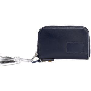 サカイ Sacai メンズ 財布 Blue leather wallet Blue|fermart