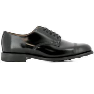 サンダース メンズ 革靴・ビジネスシューズ シューズ・靴 Black leather lace-up|fermart
