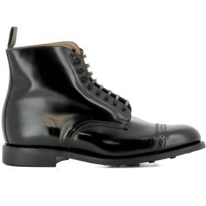 サンダース メンズ ブーツ シューズ・靴 Black leather ankle boots|fermart