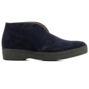 サンダース メンズ ブーツ シューズ・靴 Blue suede ankle boots Blue|fermart