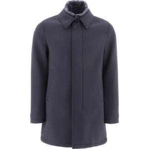 ヘルノ Herno メンズ コート アウター Twill Padded Coat Blue|fermart