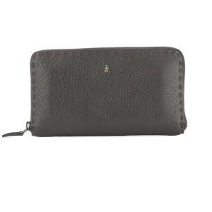 エンリーベグリン レディース 財布 Dark brown leather wallet Brown|fermart