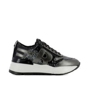 ルコライン Ruco Line レディース スニーカー シューズ・靴 Black fabric sneakers Black fermart