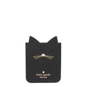 ケイト スペード Kate Spade New York レディース スマホケース Embellished Cat Adhesive Phone Pocket Black|fermart