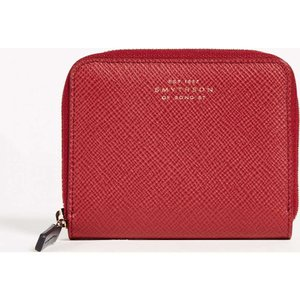 スマイソン レディース 財布 Panama Zip Coin Purse Red|fermart