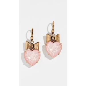 トリー バーチ Tory Burch レディース イヤリング・ピアス ジュエリー・アクセサリー Little Prince Heart & Bow Crystal Earrings Pink|fermart