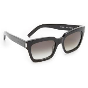 サンローラン Saint Laurent レディース メガネ・サングラス アクセサリー Bold 1 Sunglasses Black/Grey|fermart