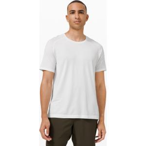 ルルレモン メンズ トップス フィットネス・トレーニング Metal Vent Tech Short Sleeve white/white|fermart