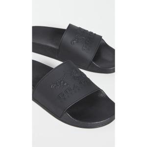 コーチ Coach New York メンズ サンダル シューズ・靴 Coach 3D Logo Slides Black fermart