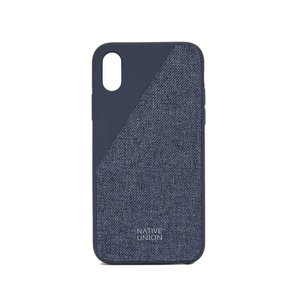 ネイティブユニオン メンズ iPhone (X)ケース Clic Canvas iPhone X Case Marine|fermart