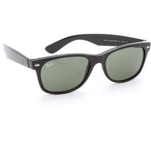 レイバン メンズ メガネ・サングラス New Wayfarer Sunglasses Black/Green fermart
