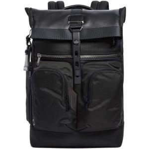 トゥミ メンズ バックパック・リュック バッグ Alpha Bravo London Rolltop Backpack Black|fermart