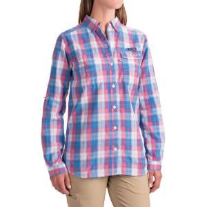 コロンビア レディース トップス 釣り・フィッシング Super Bonehead II Shirt - Long Sleeve Harbor Blue Plaid fermart