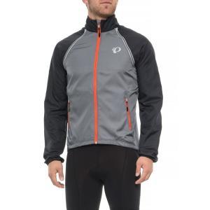 パールイズミ Pearl Izumi メンズ アウター 自転車 ELITE Barrier Cycling Jacket - Convertible Smoked Pearl/Black|fermart