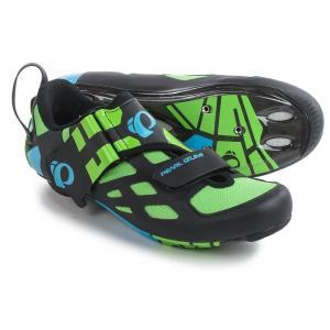 パールイズミ Pearl Izumi レディース シューズ・靴 自転車 Tri Fly V Carbon Triathlon Cycling Shoes - 3-Hole Green Flash 15|fermart