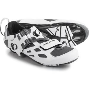 パールイズミ Pearl Izumi レディース シューズ・靴 自転車 Tri Fly V Carbon Triathlon Cycling Shoes - 3-Hole White/Black|fermart