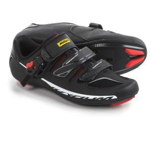 マヴィック メンズ シューズ・靴 自転車 Ksyrium Elite II Road Cycling Shoes - 3-Hole Black/Red/Black|fermart