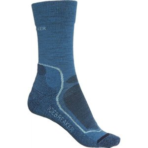 アイスブレーカー Icebreaker レディース ハイキング・登山 light cushion hiking socks - merino wool, crew Thunder|fermart