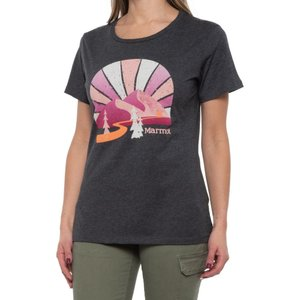 マーモット Marmot レディース ハイキング・登山 トップス forward t-shirt - short sleeve Charcoal Heather|fermart