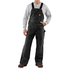 カーハート Carhartt メンズ オーバーオール ボトムス・パンツ Sandstone Bib Overalls - Long, Quilt Lined, Insulated Black|fermart