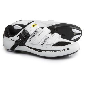 マヴィック メンズ シューズ・靴 自転車 Ksyrium Elite II Road Cycling Shoes - 3-Hole White/Black/Black|fermart