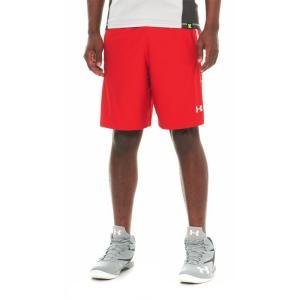 アンダーアーマー Under Armour メンズ ボトムス・パンツ バスケットボール HeatGear Team Basketball Shorts - 9 Red fermart
