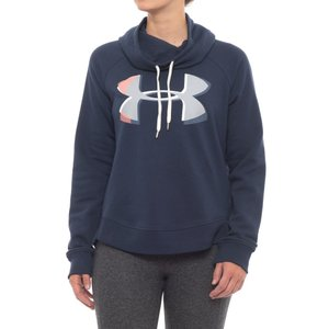 アンダーアーマー Under Armour レディース スウェット・トレーナー トップス Fashion Favorite Exploded Logo Pullover Sweatshirt Midnight Navy|fermart