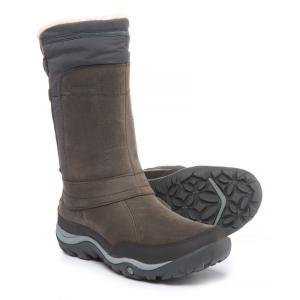 メレル Merrell レディース ブーツ シューズ・靴 Murren Mid Snow Boots - Waterproof, Insulated Pewter|fermart