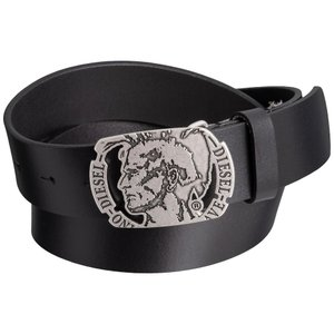 ディーゼル Diesel メンズ ベルト Mino8 Buffalo Leather Belt Black|fermart