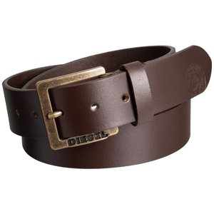 ディーゼル Diesel メンズ ベルト Mino6 Buffalo Leather Belt Brown|fermart