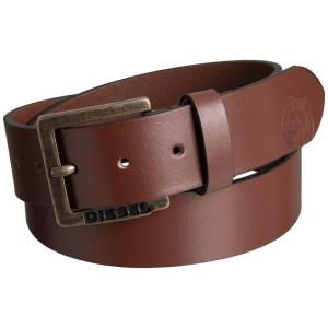 ディーゼル Diesel メンズ ベルト Mino6 Buffalo Leather Belt Vintage/Walnut|fermart