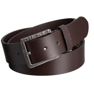 ディーゼル Diesel メンズ ベルト Mino1 Buffalo Leather Belt Brown|fermart