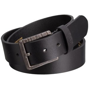 ディーゼル Diesel メンズ ベルト Mino1 Buffalo Leather Belt Black|fermart