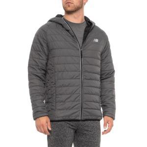 ニューバランス New Balance メンズ ダウン・中綿ジャケット アウター Hooded Puffer Jacket - Insulated Magnet Gray|fermart