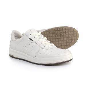 エコー ECCO メンズ スニーカー シューズ・靴 Jack Sneakers - Leather White|fermart
