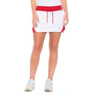 アシックス ASICS レディース ボトムス・パンツ テニス Spin Slice Tennis Skort - UPF 50+ White/Red|fermart