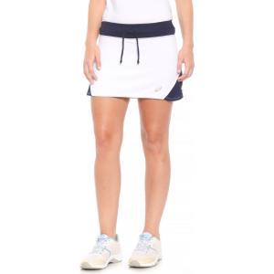 アシックス ASICS レディース ボトムス・パンツ テニス Spin Slice Tennis Skort - UPF 50+ White/Navy|fermart