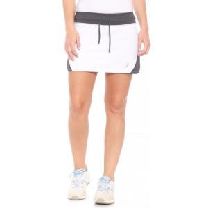 アシックス ASICS レディース ボトムス・パンツ テニス Spin Slice Tennis Skort - UPF 50+ White/Steel Grey|fermart