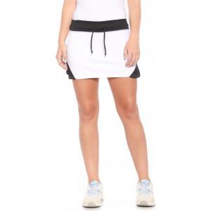 アシックス ASICS レディース ボトムス・パンツ テニス Spin Slice Tennis Skort - UPF 50+ White/Black|fermart