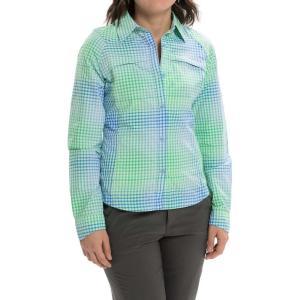 コロンビア Columbia Sportswear レディース ハイキング ウェア 長袖シャツ Silver Ridge Ripstop Shirt - UPF 30, Long Sleeve  Harbor Blue Ombre Plaid|fermart