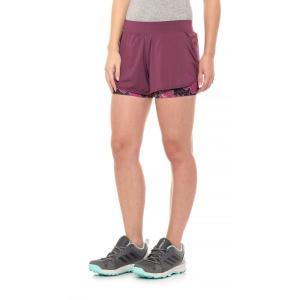 ザ ノースフェイス The North Face レディース ボトムス・パンツ ランニング・ウォーキング Versitas 2-in-1 Shorts Crushed Violets/Wild Aster Purple Print|fermart