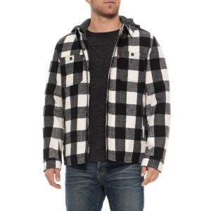 リーバイス Levi's メンズ ジャケット アウター Two-Pocket Shirt Jacket - Insulated White Buffalo Check Plaid|fermart
