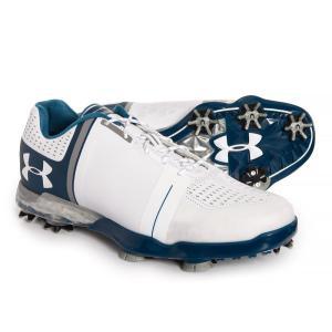 アンダーアーマー Under Armour メンズ シューズ・靴 ゴルフ Spieth One Golf Shoes White/Steel/Academy Blue fermart