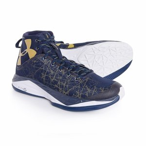 アンダーアーマー Under Armour メンズ シューズ・靴 バスケットボール Fire Shot Basketball Shoes Midnight Navy/White/Metallic Gold fermart