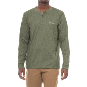 コロンビア Columbia Sportswear メンズ トップス ハイキング・登山 Thistletown Park Omni-Wick Henley Shirt - UPF 15, Long Sleeve Surplus Green Heather|fermart