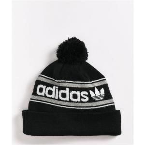 アディダス ADIDAS メンズ ニット ポンポン ビーニー 帽子 adidas Originals Black Pom Beanie Black|fermart