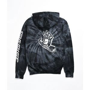 サンタクルーズ SANTA CRUZ SKATE レディース パーカー トップス santa cruz reverse dot spider black tie dye hoodie Black|fermart