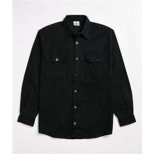 ロスコ ROTHCO メンズ シャツ フランネルシャツ トップス Rothco Heavy Black Flannel Shirt Black|fermart